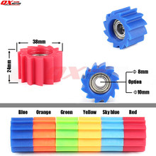 8mm 10mm Motorcycle Chain Roller Tensioner Pulley Wheel Guide for Honda Yamaha Kawasaki Kayo Bse KXF CR CRF RMZ WR YZ Dirt Bike