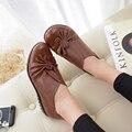 Новая Мода Mather женская Обувь Резиновая Подошва Круглый Носок Красный Скольжения На Случайные Летние Полное Зерно Кожаные Мокасины GZXM8811
