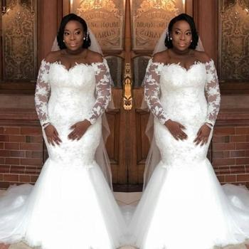 New Style Off the Shoulder Mermaid African Bridal Dresses Court Train Lace Appliques Wedding Gown Robe De Mariage wonderful off the shoulder mermaid african bridal dresses long lace appliques plus size wedding gowns robe de mariage