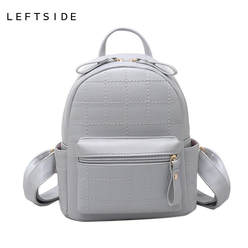 LEFTSIDE Fashion Women Backpacks Feminine Small Travel Backpack School Bags for Girls PU Leather Women Back