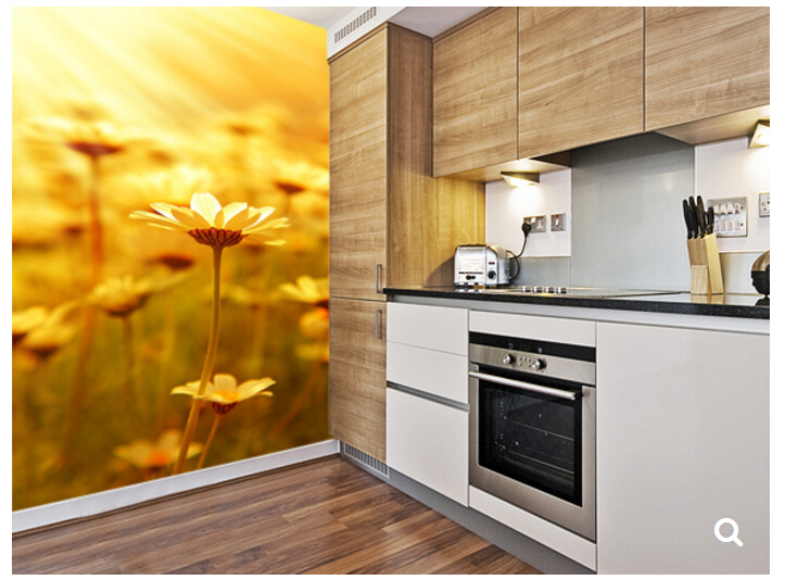 Custom natural landscape wallpaper,Field of Daisies,3D photo mural for living room bedroom dining backdrop waterproof wallpaper book knowledge power channel creative 3d large mural wallpaper 3d bedroom living room tv backdrop painting wallpaper