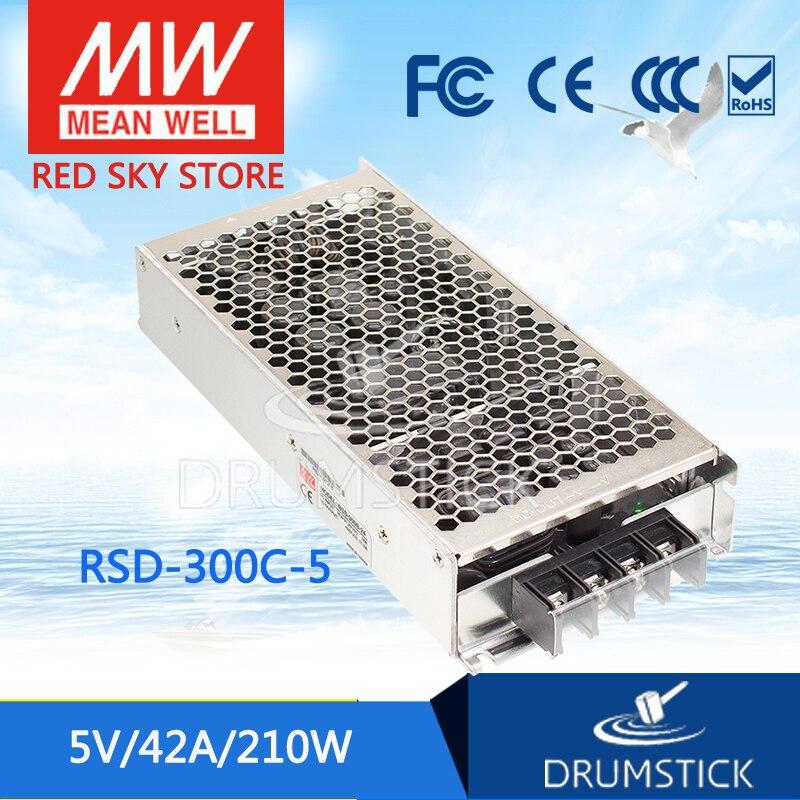 цена на Advantages MEAN WELL RSD-300C-5 5V 42A meanwell RSD-300 5V 210W Railway Single Output DC-DC Converter