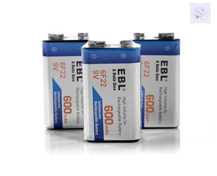 buy 2pack 600mah li ion 9 v rechargeable batteries for smoke detectors wireless. Black Bedroom Furniture Sets. Home Design Ideas