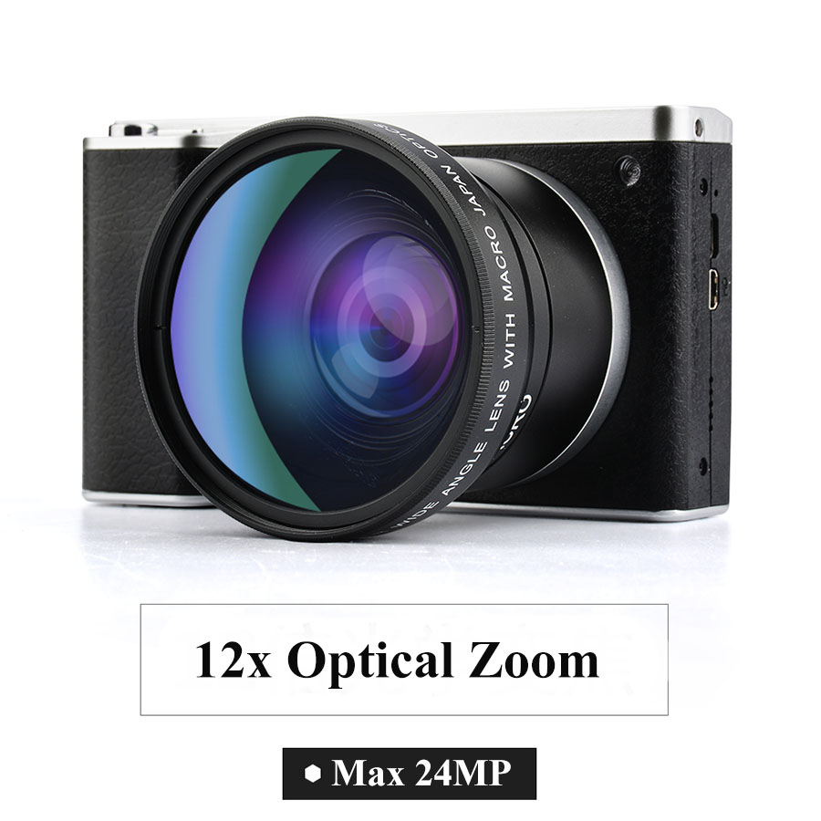 Winait 24mp Dslr Digital Video Camera with 4.0'' touch display and 12x optical zoom home use compact camera image