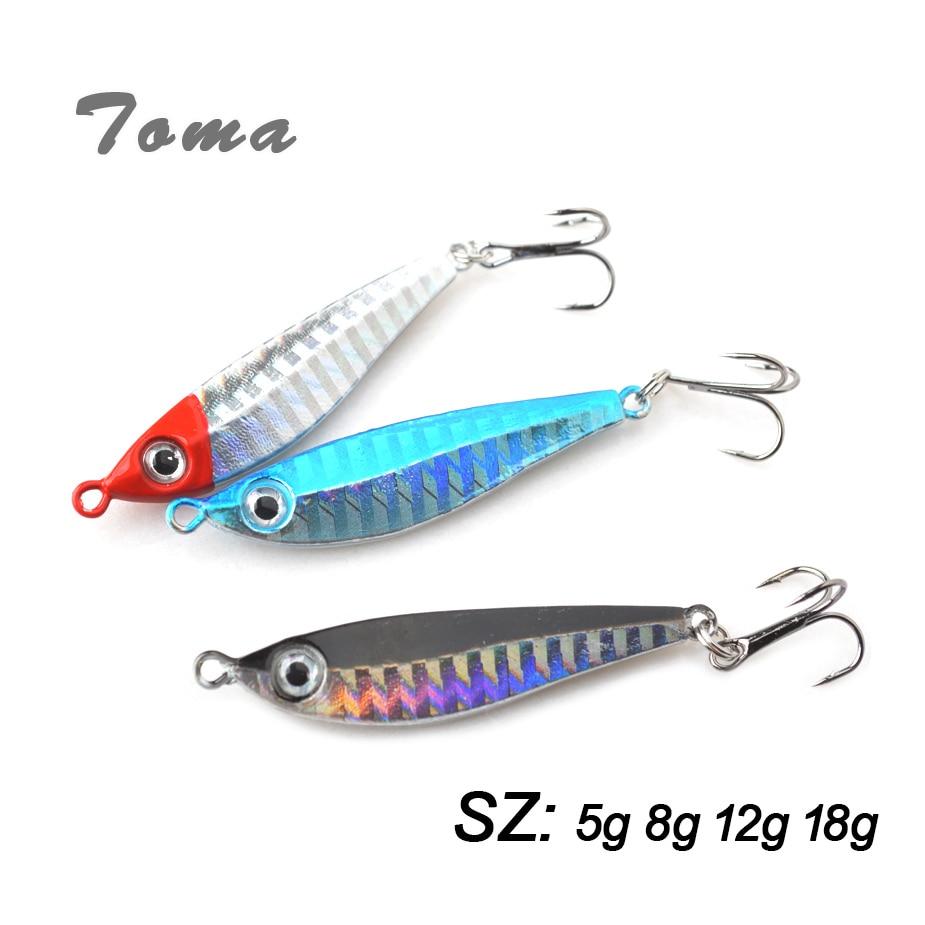 5pcs//Lot Lead Metal Jigging Lure 7g-21g Spoon Bait Saltwater Jig Fishing Tackle