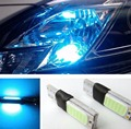 Car Headlight 1 Pair Ice Blue Light Color T10 LED W5W COB Interior Bulb Light Parking backup Fog Brake Lamp