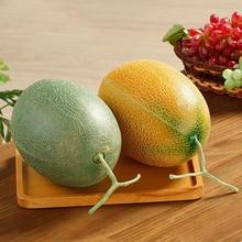 050 Imitation Hami melon fake plastic cantaloupe fruit model / cabinet decoration props