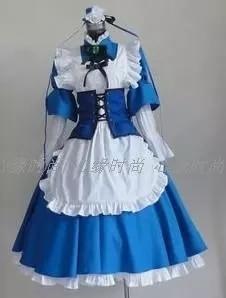 Hot Anime Haruhi Suzumiya Asahina Mikuru Cosplay Costume Lolita Party Maid Dress Uniform Halloween Suit For Women Outfit New 1