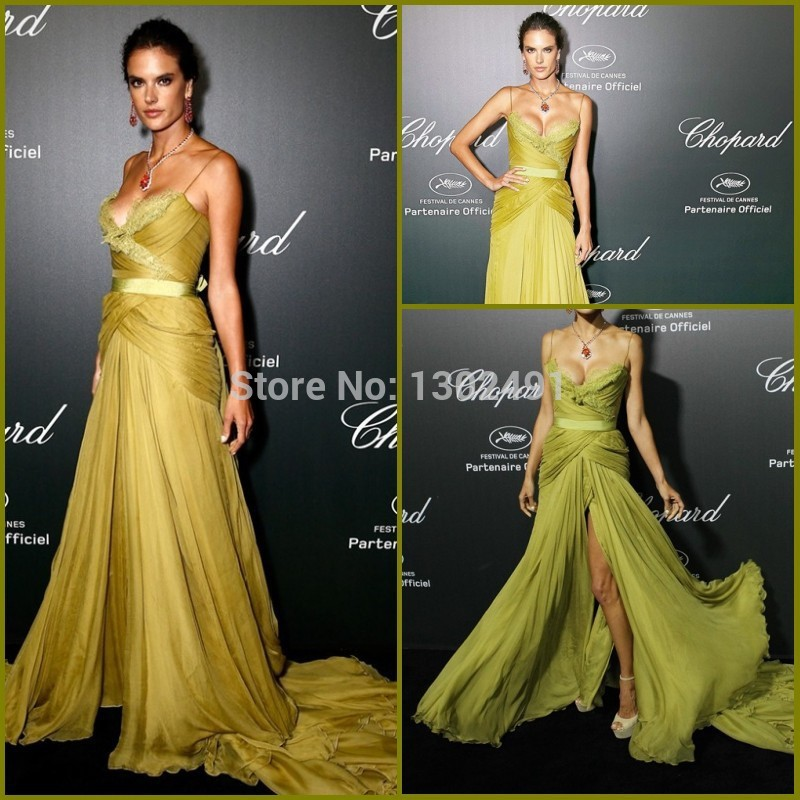 Alessandra ambrosio red lace dress