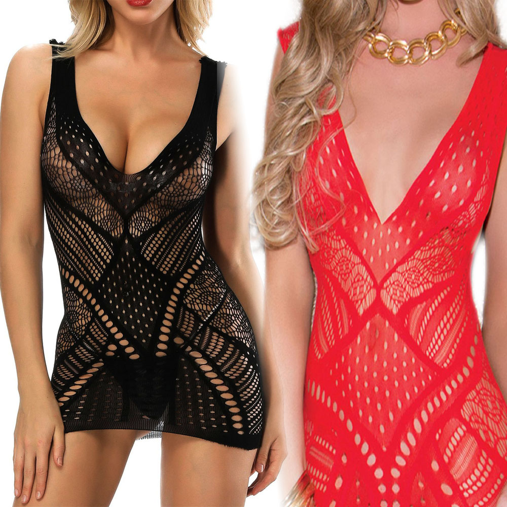 Fishnet Mini Dress Underwear Corchless Lingerie Hollow Out Teddy Spider Web Lover Games Sexy Asymmetric Mesh Bodysuit