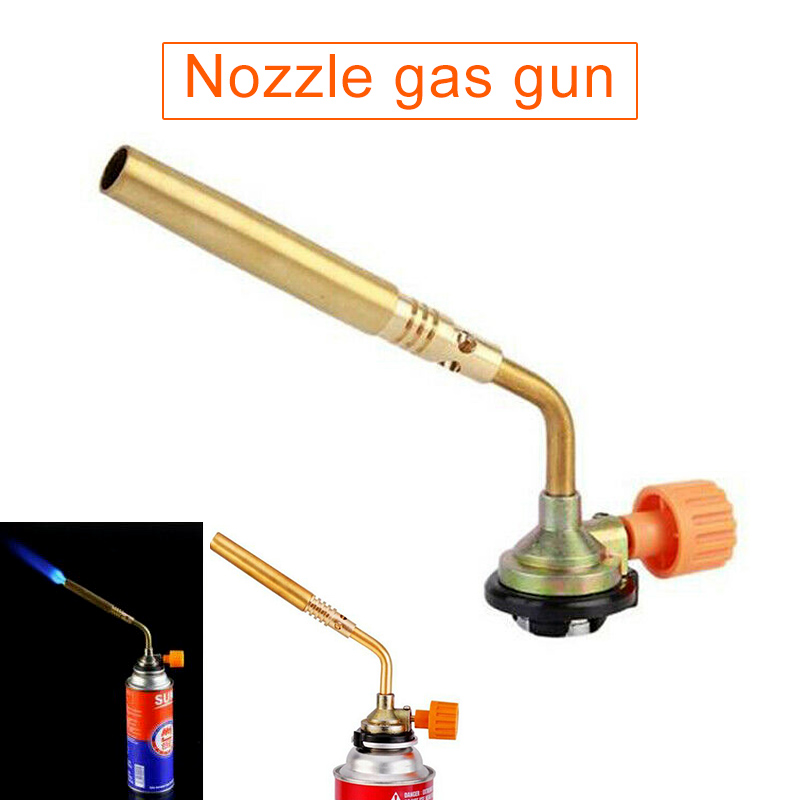 Propane Gas Torch Burning Blowtorch Gas Torch Butane Welding Kitchen Outdoor Camping Barbecue Flame Welding Gas Torch Tool WWO66