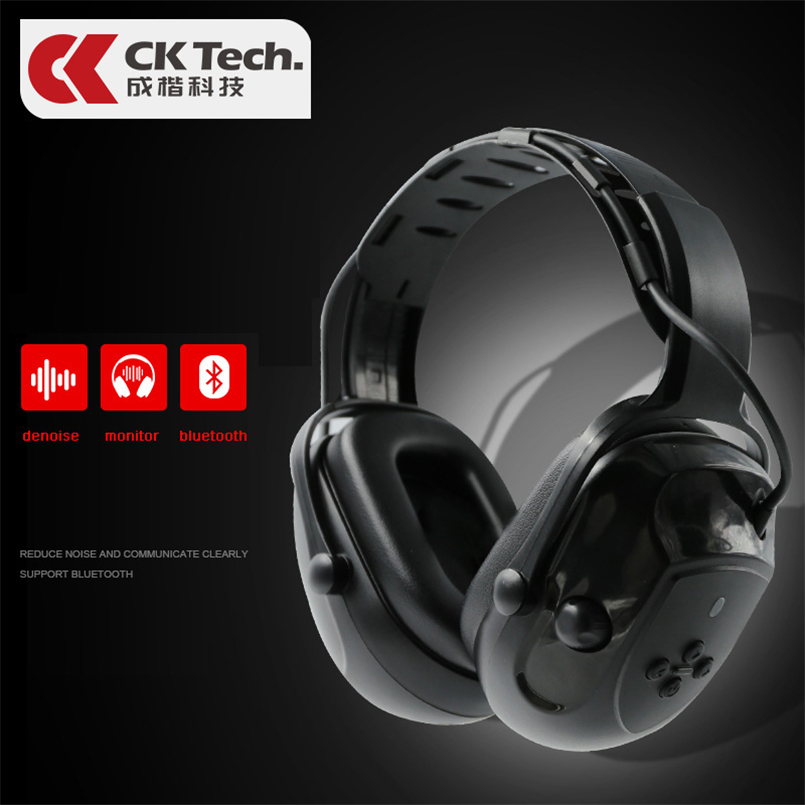 CK Tech.Electronic Shooting Earmuff  Hunting Monitor Automatic Noise Reduction Earmuffs Anti-noise Bluetooth Silencer