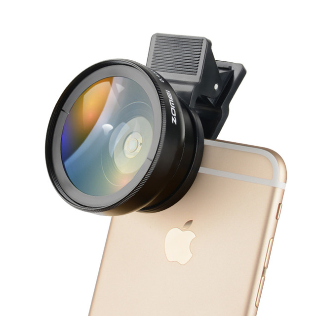 ZOMEI 37mm 0.45X Clip Wide Angle Camera Lens For Universal Cell Phone