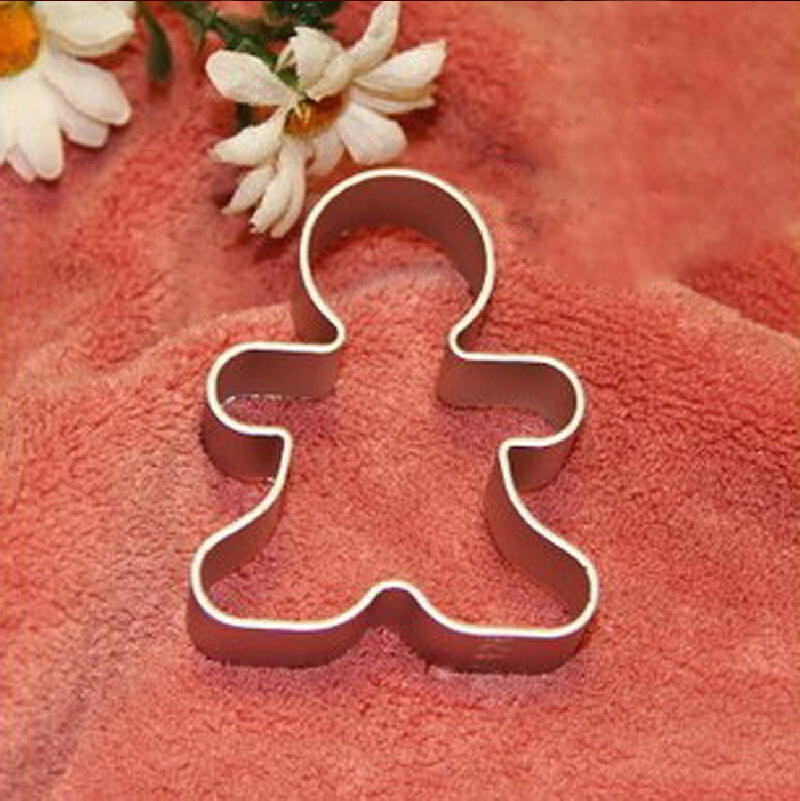 Bakeware Beautiful Christmas Cookie Cutter Tools Aluminium Alloy Gingerbread Men Shaped Holiday Biscuit Mold Kitchen Cake Decorating Tools