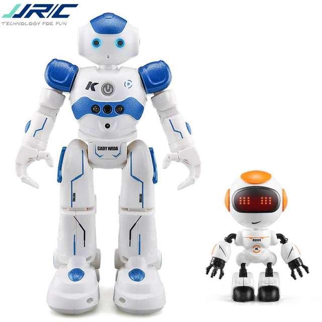 JJR/C JJRC R2 Carregamento USB Cantando Dança Robô de Brinquedo RC Controle Gesto Azul Rosa Para O Presente Das Crianças Dos Miúdos apresenta