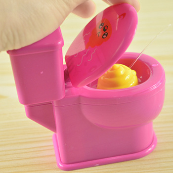 1Pcs Funny Toys Trick Cartoon Animal Toy Cartoon Squat Toilet Small Toys For Children Baby Kids baby toys