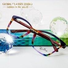 Новые модные итальянские дизайнерские очки для женщин и мужчин, серые, красные, коричневые ацетатные оптические очки в оправе, очки с чистыми линзами G86
