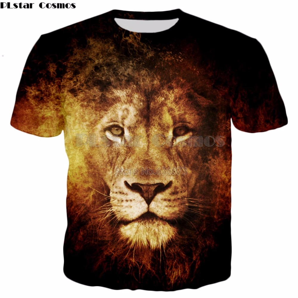 fb35ecb03780 Aliexpress.com   Buy PLstar Cosmos Free shipping 2018 summer New Fashion t  shirt Animal sloth   lion   shark 3d Print T shirts Mens Womens Tee shirts  from ...