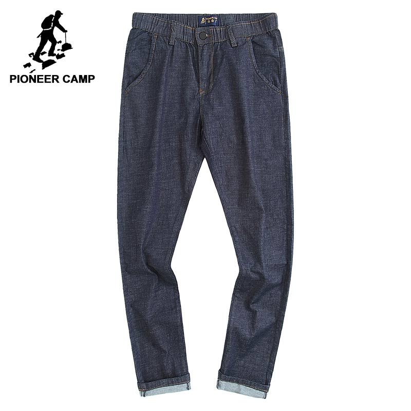 Pioneer Camp new summer thin jeans men brand-clothing casual straight denim pants male top quality denim trousers ANZ703095 fongimic new men clothing summer thin casual jeans mid waist slim long trousers straight high quality men s business denim jeans