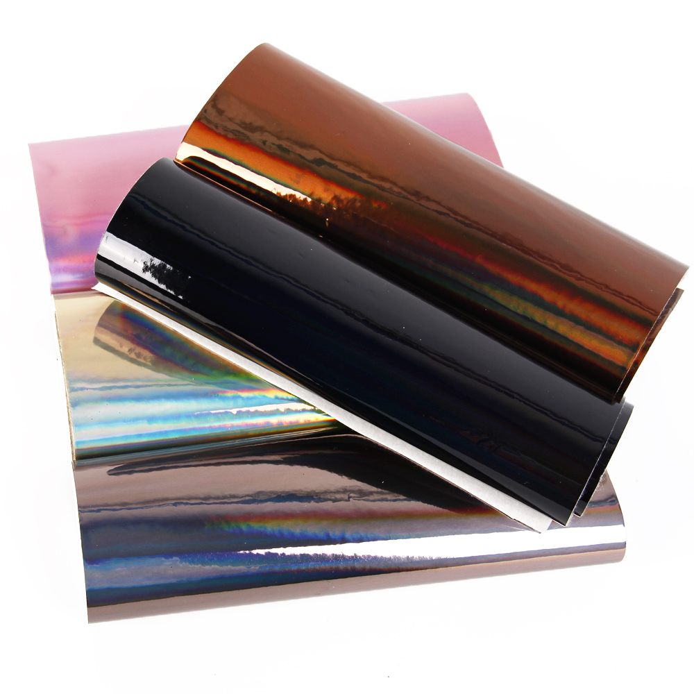 20*30cm Laser Magic Mirror Pvc Faux Leather Fabric For Sewing 10 Colors Artificial Synthetic Leather Diy Hair Bows Bag Material Synthetic Leather Arts,crafts & Sewing