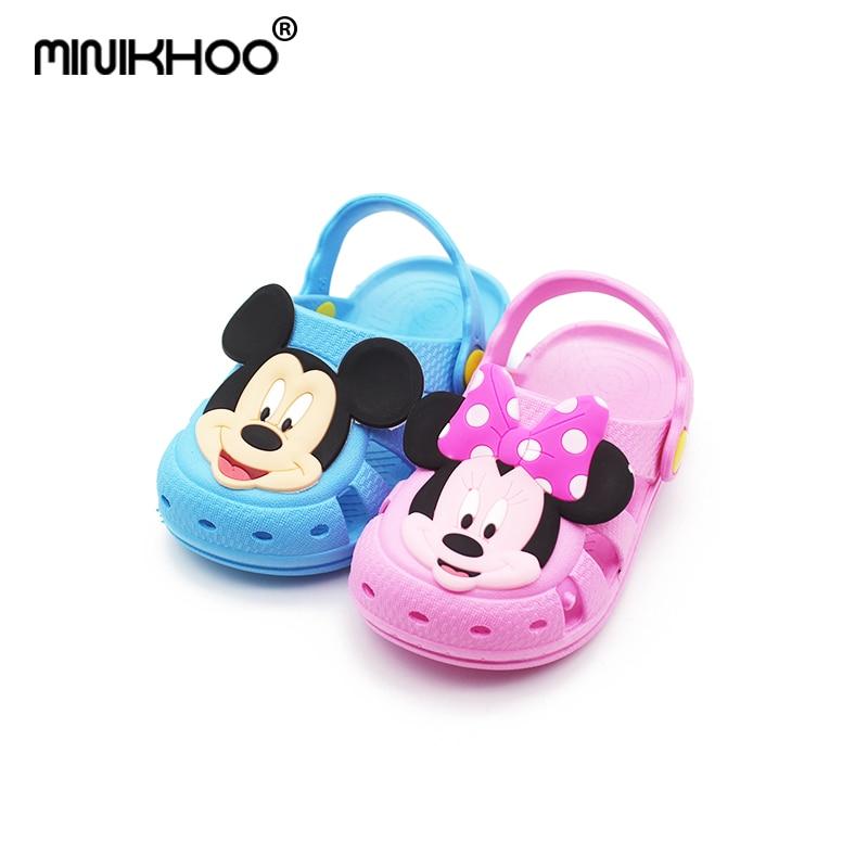 Mini Melissa Mickey & Minnie Pattern Girls Sandals Soft 2018 Summer Baby Sandals Girls B ...