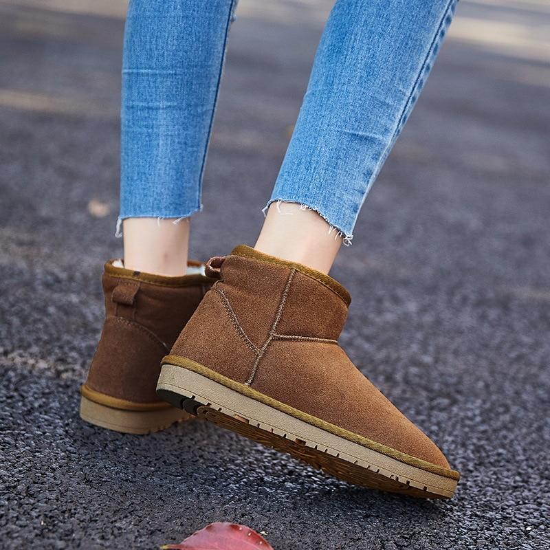 gris Chaud Velours Épais Neige Bottes Sauvage Coton Imperméable brown Boot Noir Femmes Casual Coréenne Tube Plus khaki De Femelle Chaussures D'hiver Court qRwqf4p