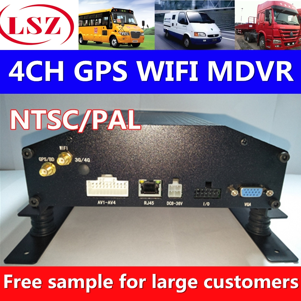 4-channel car video recorder dvrGPS positioning system WIFI network support Korean Japanese Spanish language development