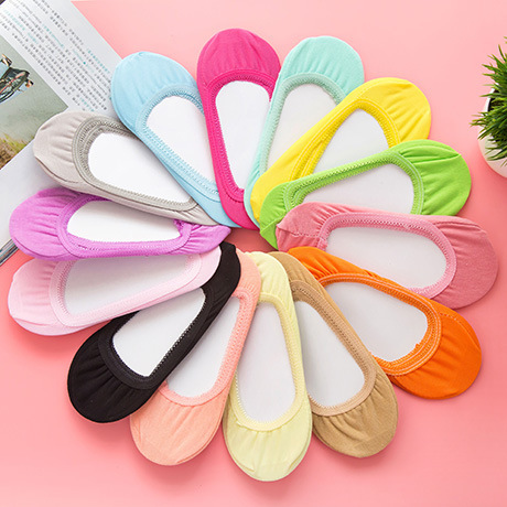 Invisible Short Woman Sweat Summer Comfortable Cotton Bamboo  Girl Women's Boat Socks Ankle Low Female Invisible 1pair=2pcs Ws41