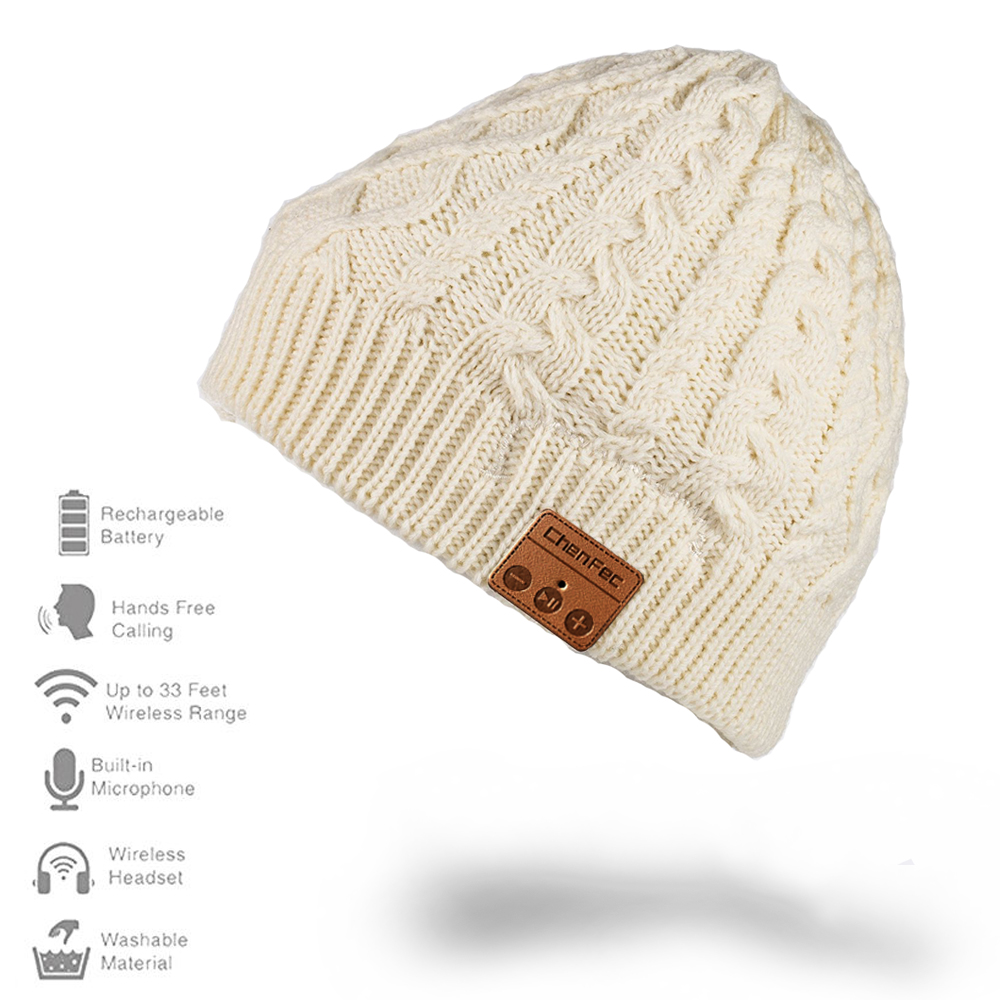 Brand Wireless Bluetooth Hat Winter Warm Beanies With V4.2+EDR Bluetooth Headset mp3 Music player Hats Knitted Cap Wholesale v4 0 edr bluetooth baseball hat