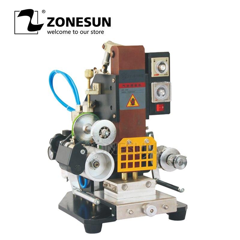 ZONESUN ZY 819K Pneumatic hot stamping machine press printing embosser machine high speed semi automatic custom area 110V/220V