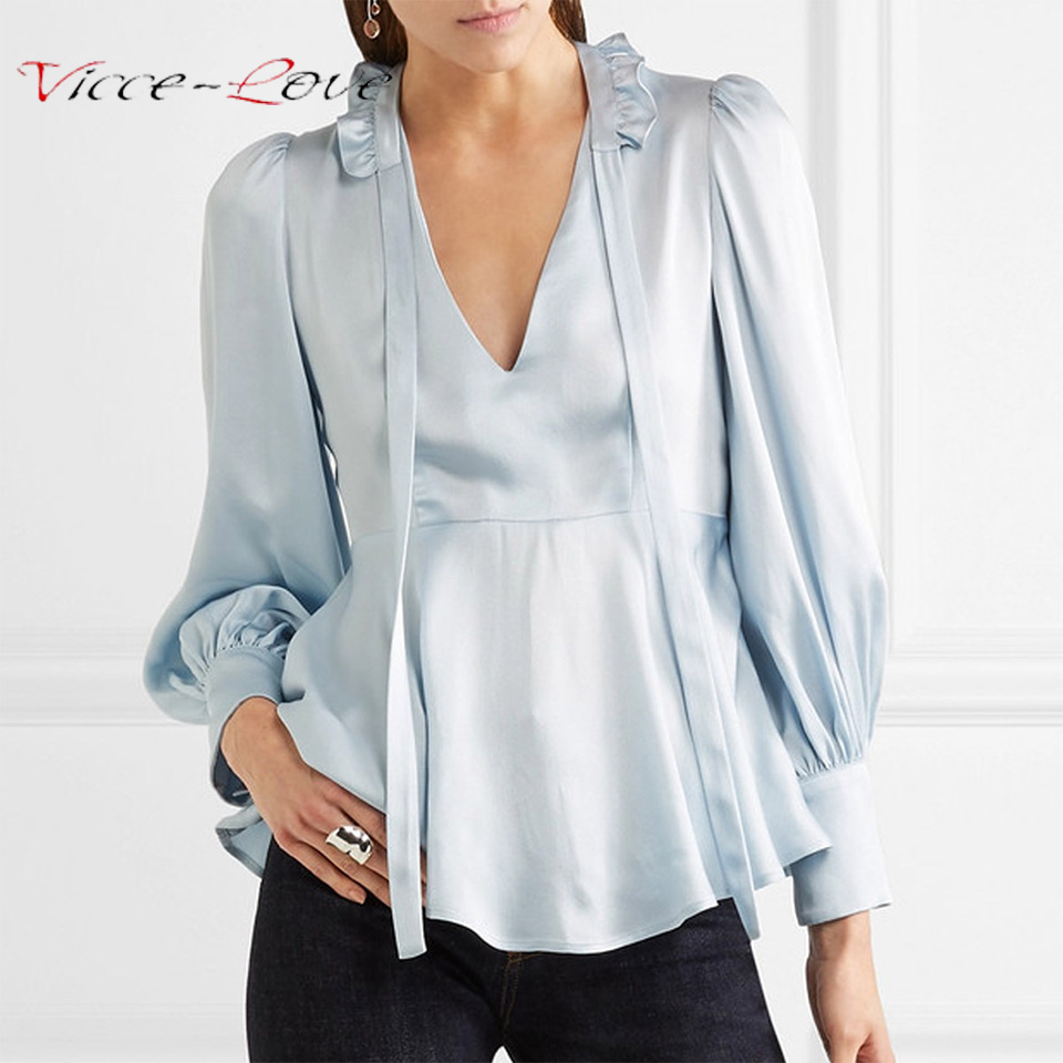 Silk Blouse Satin Shirt Chiffon Blusas Women Vintage Slim Work Wear Uniform Office OL Shirt Simple Body Tops Elegant Female Top