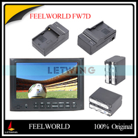 FEELWORLD FW7D 7 High Definition On Camera Monitor 2pcs Rechargeable NP F970 Battery W Charger