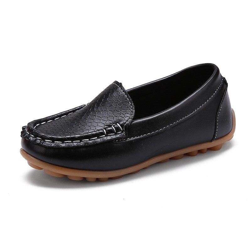 Brand Children Shoes Pu Soft Split Leather Boy Girl Slip ...