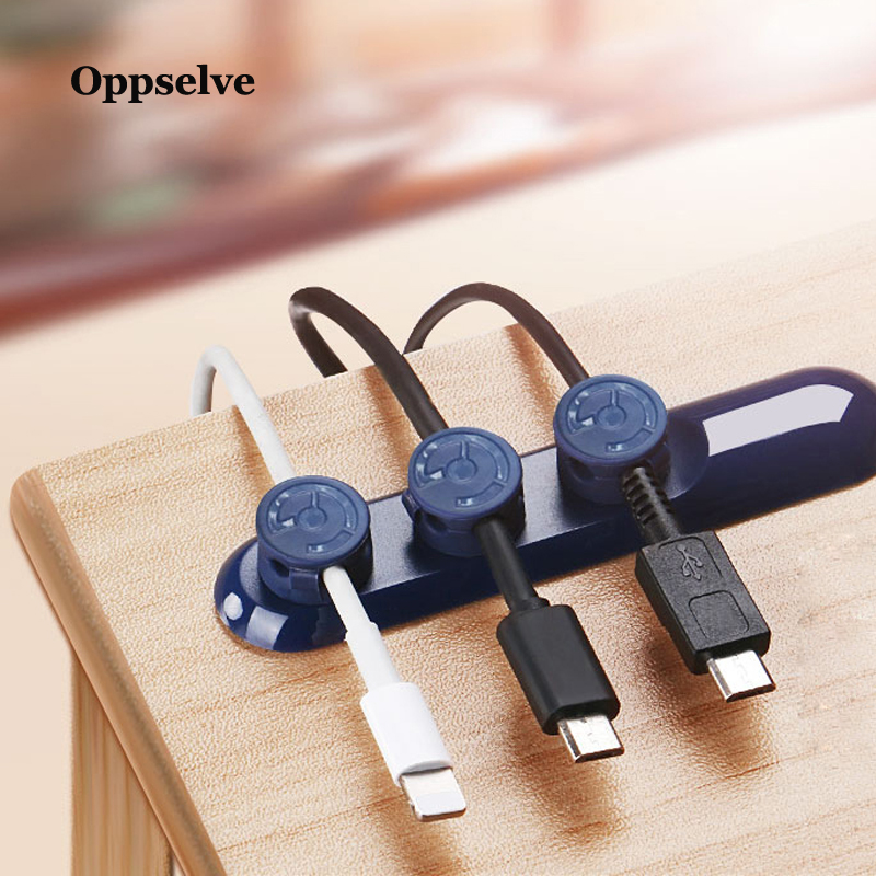 Oppselve Mobile Phone Cable Clip For Car Desktop Tidy Charger Cable Organizer For Data Cable Digital Wire Charging Cable Winder