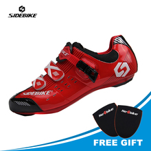 цены SIDEBIKE Men Outdoor Sport Bike Bicycle Sneaker Cycling Shoes Bicycle Shoes Cycling Sneaker Racing Road Cycle Shoes
