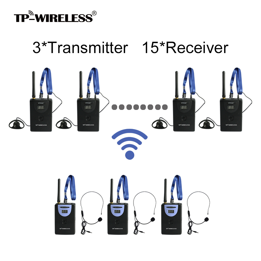 TP-WIRELESS Wireless Tour Guide System Translation System for Tour Guiding Teach Train Visit Tourism 3 Transmitter+N Receivers 2 receivers 60 buzzers wireless restaurant buzzer caller table call calling button waiter pager system