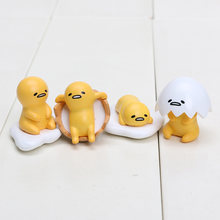 Gudetama Egg 4Style 2~3cm 4pcs/Lot Cute Lovely Gudetama Toys Yellow White Lazy Egg Gudetama Action Figure Anime(China)