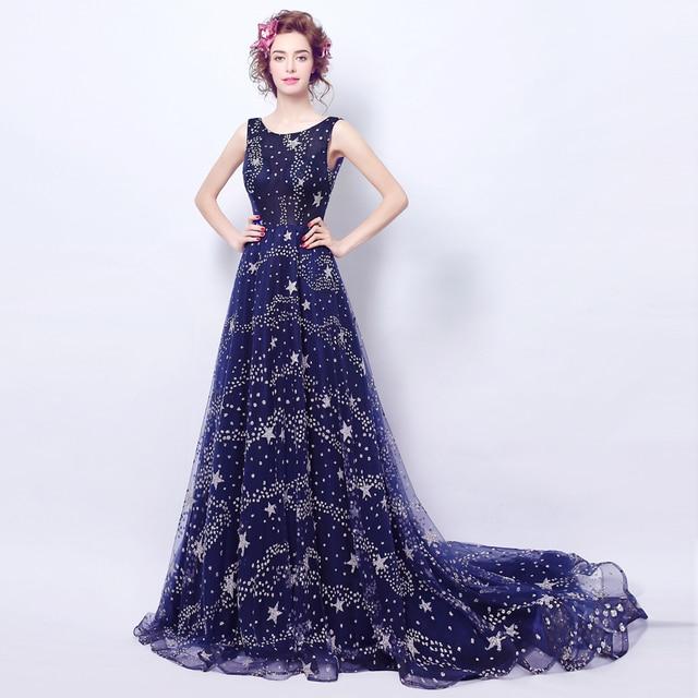 Engel Hochzeit Kleid Ehe Brautkleid Vestido De Noiva Blau Backless ...