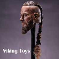 Viking Toys Vikings 1/6 Soldier Head Carved for Ancient Military Model