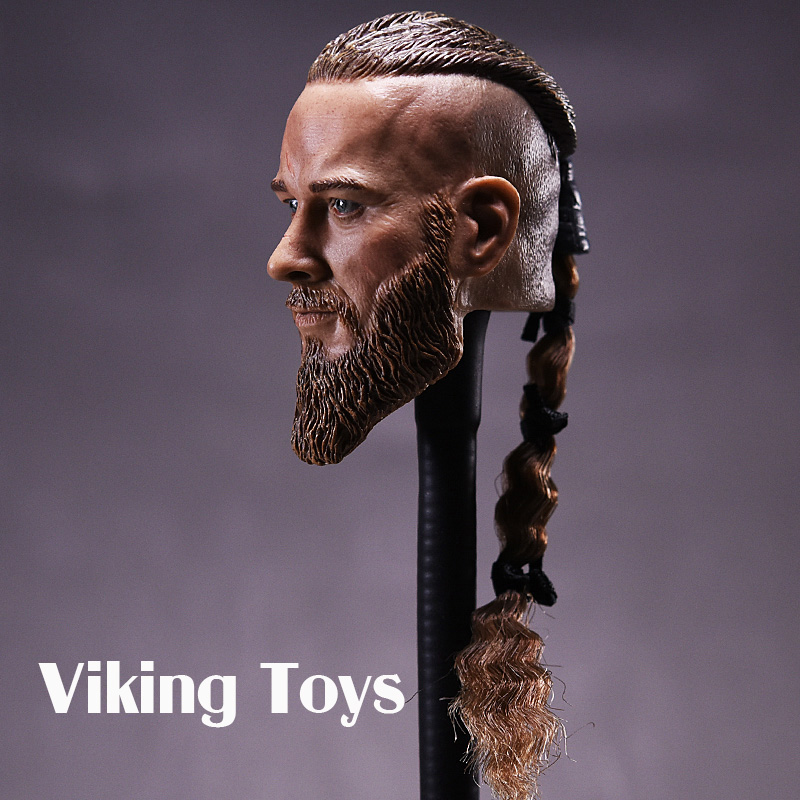 Viking Toys Vikings 1/6 Soldier Head Carved for Ancient Military Model viking 1