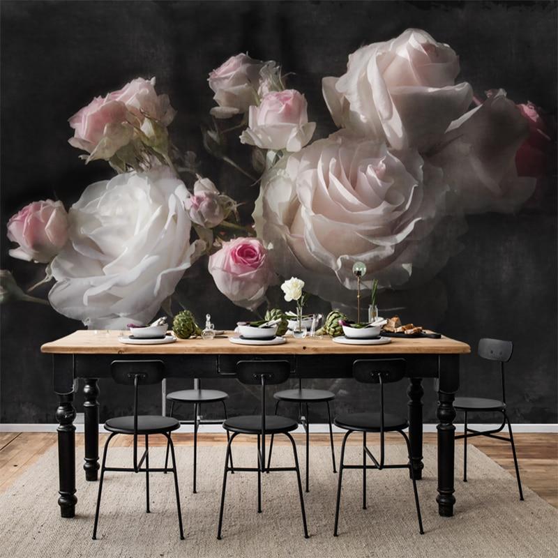 Custom Mural Wallpaper European Retro Rose Flowers Living Room Bedroom Background Wall Decoration Waterproof 3D Wallpaper Mural Herbal Products f4843c1c797abf1a256c88: 1 ㎡
