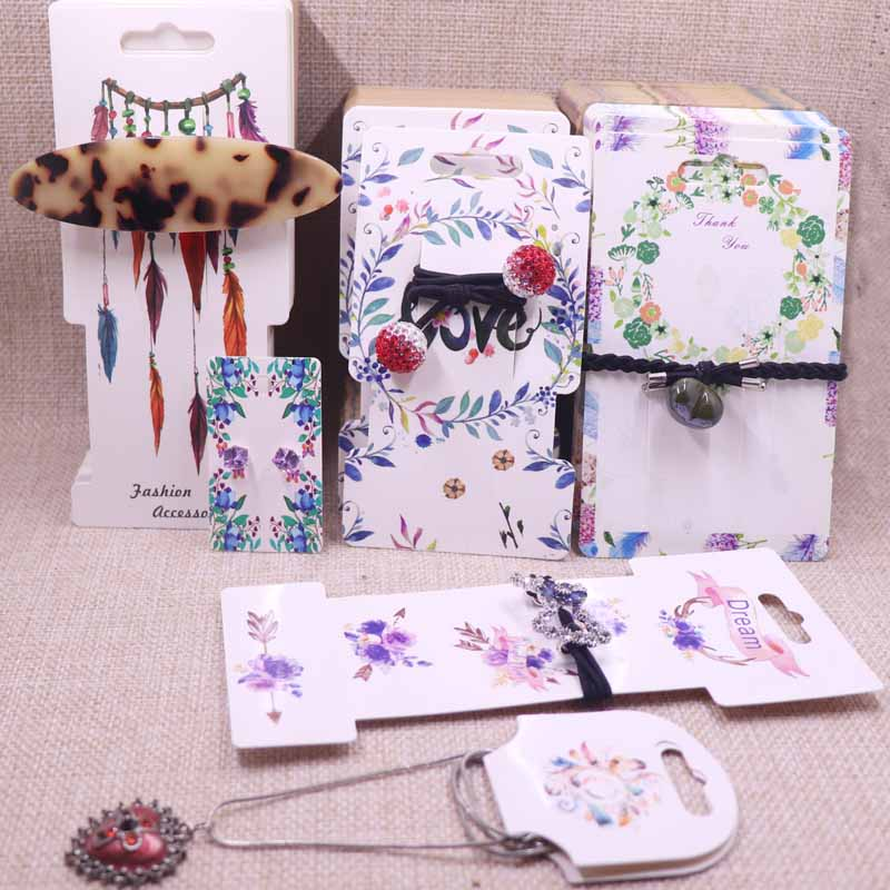 new diy 100pcs thank you jewelry package cards paper