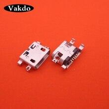 100 piezas micro mini usb jack hembra de conector de puerto de carga de reemplazo de piezas de reparación para THL W200 W200s W100 W100s V12 v7 W7 T3 T2