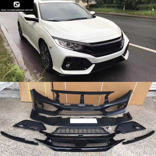 car body kit frp upainted si front bumper type r racing grills forcar body kit frp upainted si front bumper type r racing grills for honda civic 10th si body kit 16 17