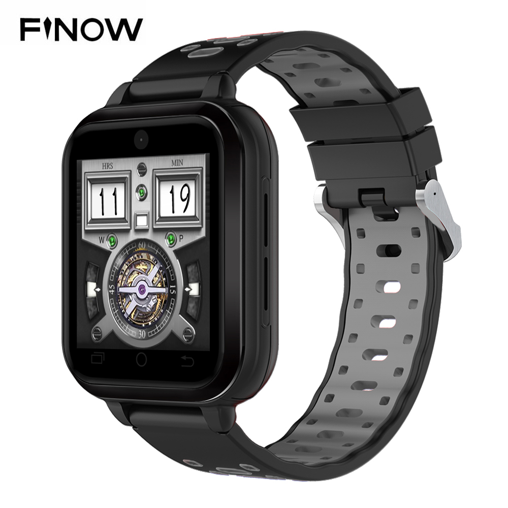 Finow Q1 Pro 4G smart watch Android 6.0 MTK6737 Quad Core 1GB/8GB SmartWatch Phone Heart Rate Sim Card Support Change Strap 18mm 4g gps android 6 0 smart watch m5 mtk6737 heart rate monitor support sim card camera business smartwatch for men women 2018 gift