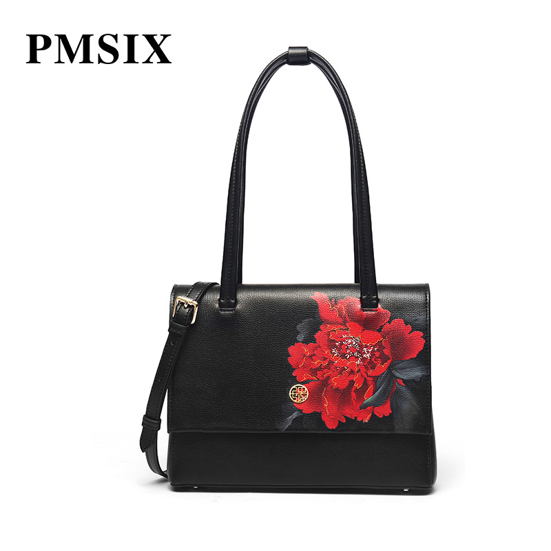 PMSIX Women Famous Brands  Vintage Floral Printing Handbag Large Capacity Fashion High quality zipper Ladies Crossbody bags  PMSIX Women Famous Brands  Vintage Floral Printing Handbag Large Capacity Fashion High quality zipper Ladies Crossbody bags