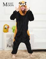 Bear Raccoon Animal Pajamas Unisex Pijama Adults Flannel Pyjamas Womens Sleep Tops Costume Onesies Robe