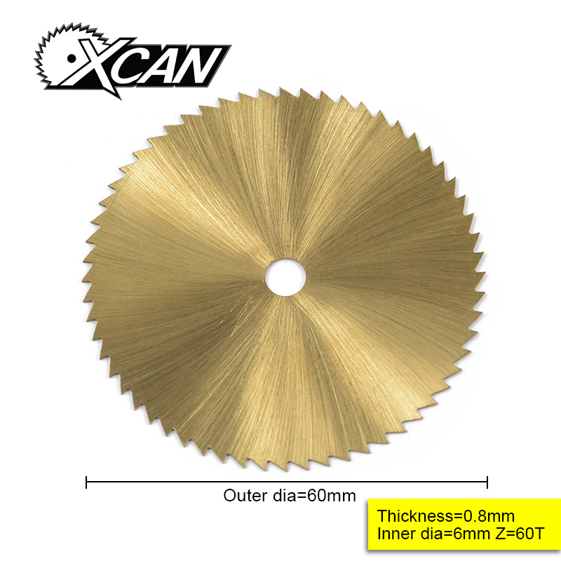 60mm TI-coated Mini HSS Circular Saw  Blade Rotary Cutter For Metal Hand Tool Set