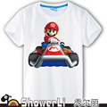 Cotton short sleeve children t shirts, cute cartoon t-shirt,super mario brother game boys girls t-shirt figure kids wear