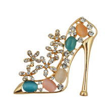 2017 Exquisite High Heel Shoe Brooches For Girls Party Time Brooach Cheap Price